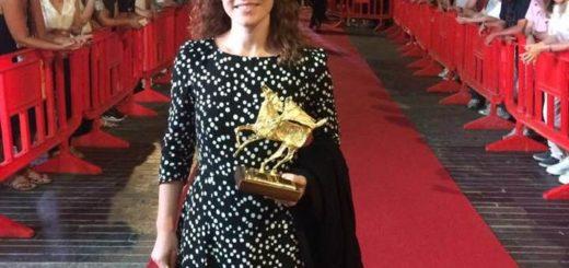 Caterina Salvadori sul red carpet del Premio Flaiano
